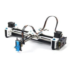 Image 2 - EleksMaker Mini XY 2 achsen CNC Stift Plotter DIY Laser Zeichnung Maschine Drucker 28*20cm Gravur Genauigkeit 0,1mm