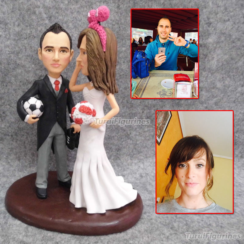 Personalized Couple Name Wedding Cake Topper Custom Cake Decoration Wedding Cake Topper customized from photo of couple