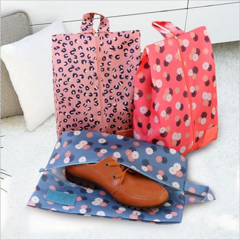 1Lot Travel Camping Shoe Storage Bag With Zipper Waterproof Foldable Toiletry Makeup Pouch Organizer Storage Boxes 4 Color