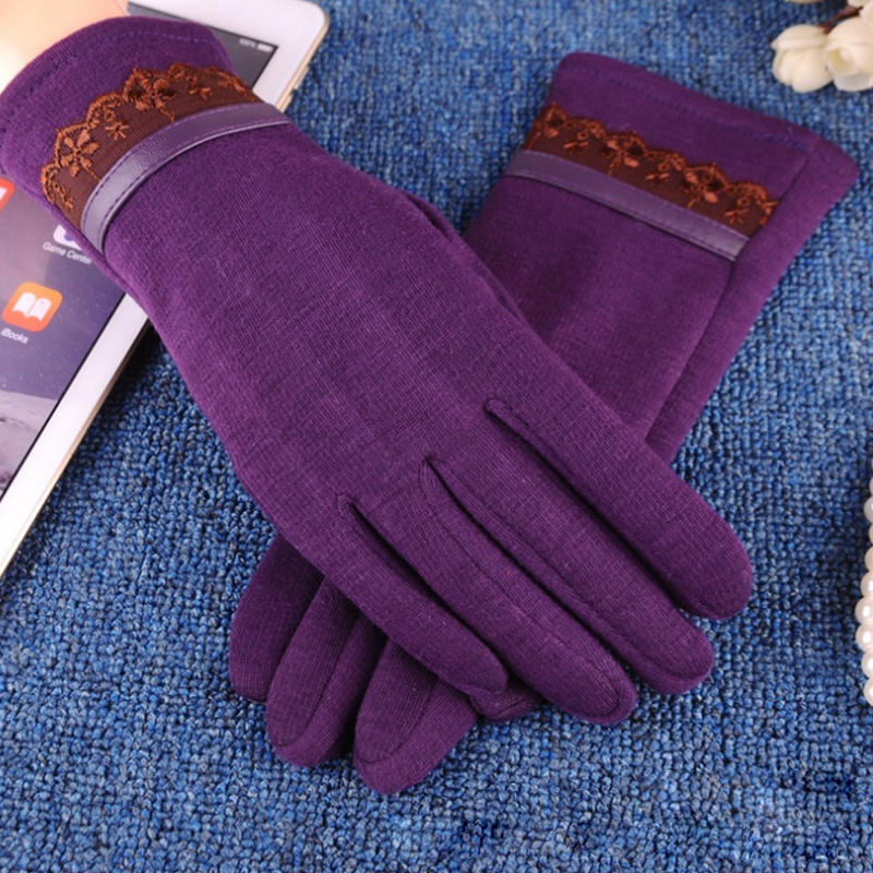 NAIVEROO Waterproof and Warm Touch Screen Gloves made of PU Leather and Conductive Fibers for Women Suitable for Spring and Winter 46