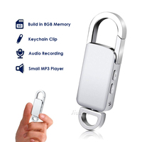 Keychain Mini Voice Recorder USB Flash Drive Small Dictaphone Sound Recorder Portable MP3 Player Voice Activated Recording Pen
