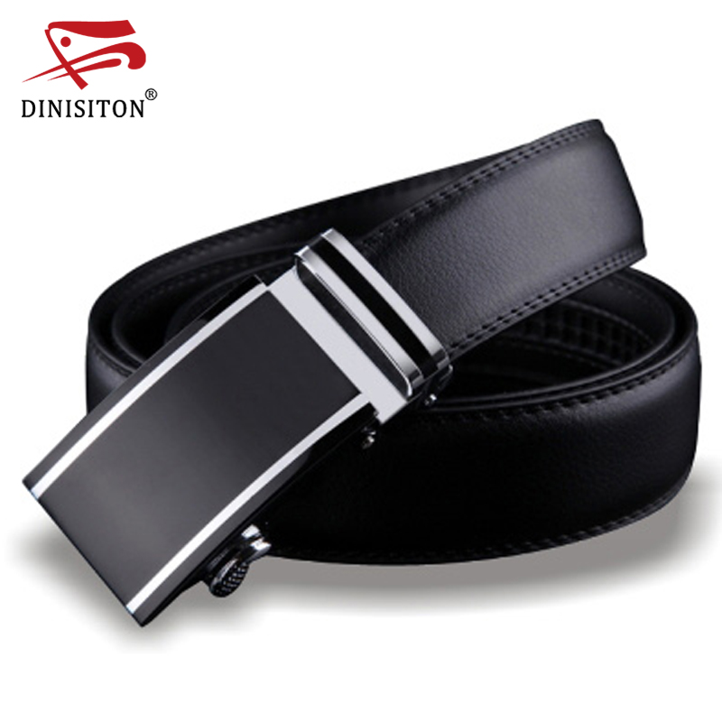 103f2631320ee DINISITON Genuine Leather belts for men Designers high quality Luxury  automatic buckle belt Waist strap for