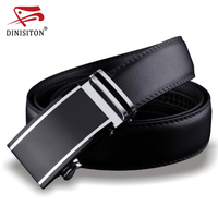 DINISITON Genuine Leather Belts For Men Designers High Quality Luxury Automatic Buckle Belt Waist Strap For