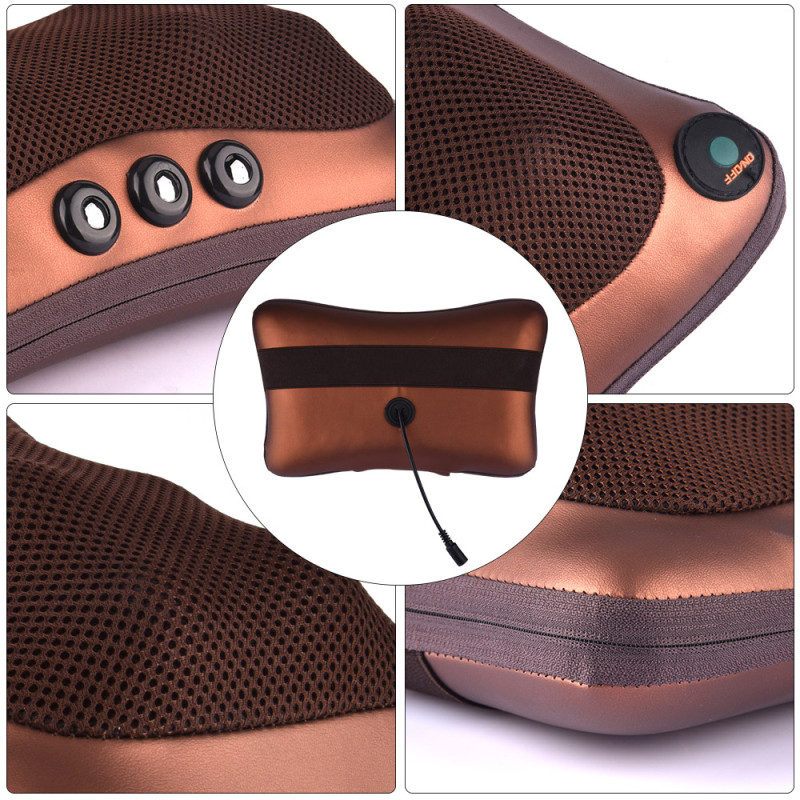 relaxation vibrator electric massage pillow for shoulder back with heating kneading infrared therapy