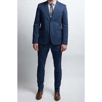 Custom Made Dark Blue Wedding Suits For Men Bespoke Gray Mens Suit Wedding Groom Tailor Made Dark Blue Men Suits With Pants