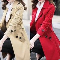 6XL 2019 Новинка весна осень Женская Корейская ветровка женский большой размер длинный секционный шикарный Тренч пальто A1525