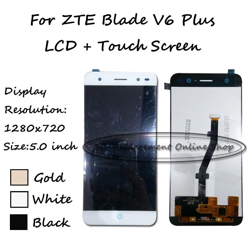 imágenes para 100% probado nuevo 5.0 pulgadas para zte blade v6 plus pantalla lcd full + pantalla táctil digitalizador asamblea reemplazo envío gratis