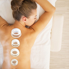 2018 4Pcs Moisture Absorber Anti Cellulite Vacuum Cupping Cup Silicone Family Facial Body Massage Therapy Cupping Cup Set недорого