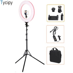 Tycipy 16inch LED Bi-Color Camera Photo Studio Photography Ring light Phone Video Lamp Light Selfie Make Up With 1.8Meter Tripod