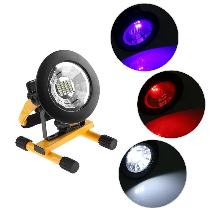 Portable 20 LED Floodlight for Fishing Camping Hiking Button type Waterproof Portable Lantern Lamps 3 Mode Emergency Spotlight