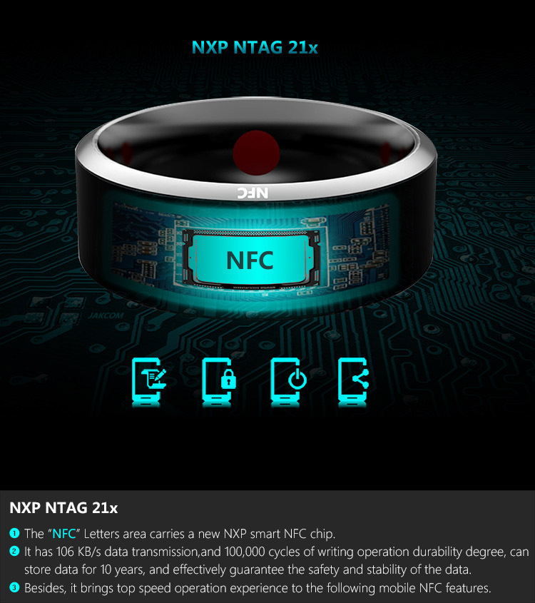 nfc dos dispositivos wearable de jakcom r3