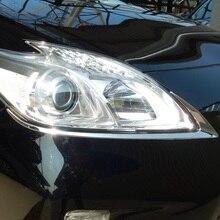 Нержавеющая сталь спереди бровей фары крышка фар планки для Toyota Prius ZVW30 facelift 2012 2013