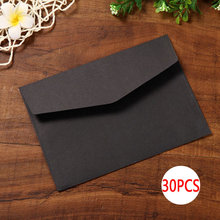 Buy DELVTCH 30pcs/set Black White Craft Paper Envelopes Vintage Retro Style Envelope For Office School Card Scrapbooking Gift directly from merchant!