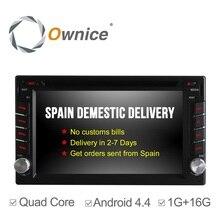C300 Ownice Quad Core Android 4.4 Универсальный Dvd-плеер Автомобиля GPS навигация 2Din Автомобилей Стерео Радио 16 Г ROM поддержка зеркало link IPOD