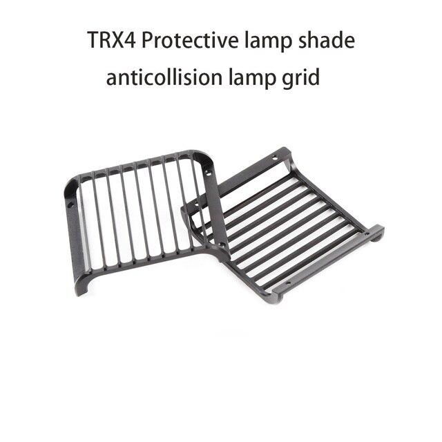 Trx4 Metal Noir Phare Led Couvercle Garde Grille Pour 1 10 Rc