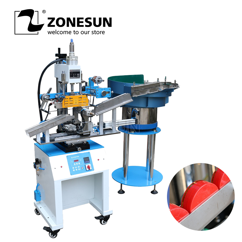 ZONESUN ZY 819S2 Customized Full Automatic Stamping Machine Plastic Cap And Book Leather Embossing Hot Foil Machine