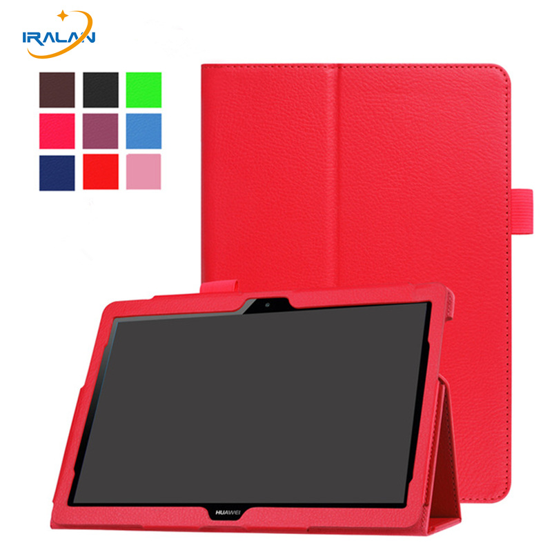 Litchi Leather Stand Flip case for Huawei MediaPad T3 10 AGS-L09/L03 9.6 inch Tablet PC Cover for Honor Play Pad 2 9.6+film+pen don t touch my pad universal 10 10 1 inch leather case cover stand for archos 101 neon 101 xenon 101 xs 2 10 1tablet s4a92d