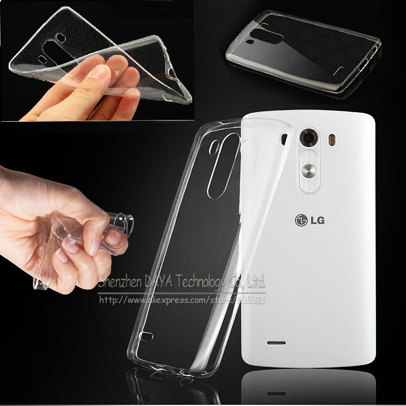 för LG G3 mini / G4 / G5 / G6 / Stylus 2 3 Plus / V20 / X Power 1 2 / X Cam Transparent Crystal Clear Soft Silikon TPU-fodral bakomslag