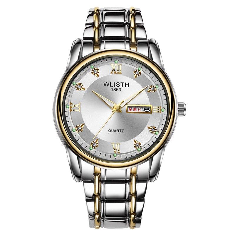 2019 Fashion Wlisth Brand Date Waterproof Crystals Men Business Watch Steel Wrist Business Dress Gift Watches Montre Homme Reloj