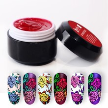 Beautilux 1pc Gel Paste No Sticky Layer Spread Nail Art 3D Carving Soak Off UV LED Nails Polish For Design Artist 6g
