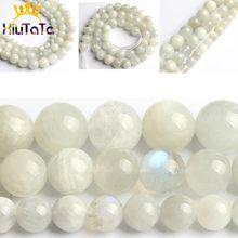 Miçangas de pedra natural, miçangas espaçadoras redondas e lisas para fazer jóias, 15 polegadas 6/8/10mm diy contas pulseira colar perles