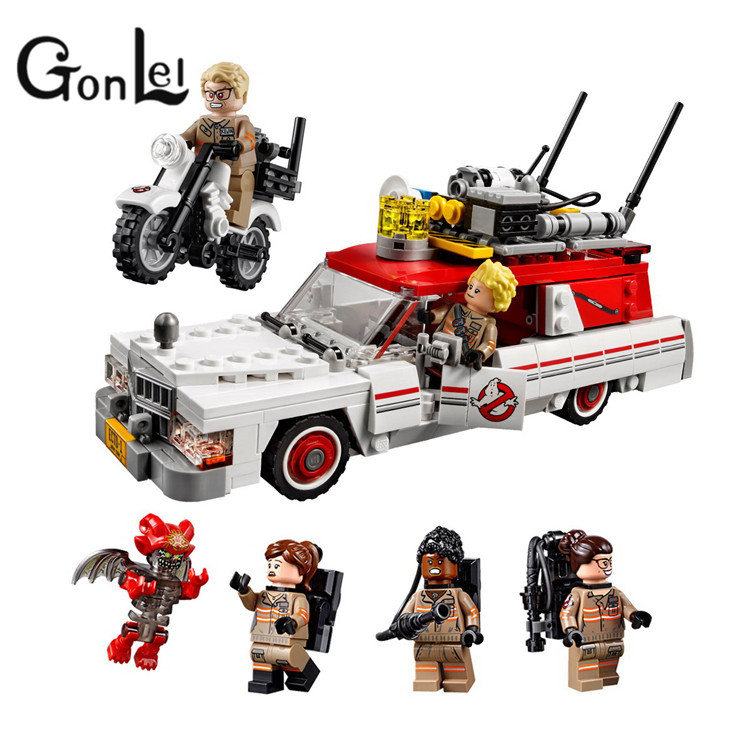 GonLeI Lepin 16032 Ecto-1&2 building bricks blocks Toys for children boys Game Model Car Gift Compatible with Decool Bela 75828 lepin 02005 volcano exploration base building bricks toys for children game model car gift compatible with decool 60124