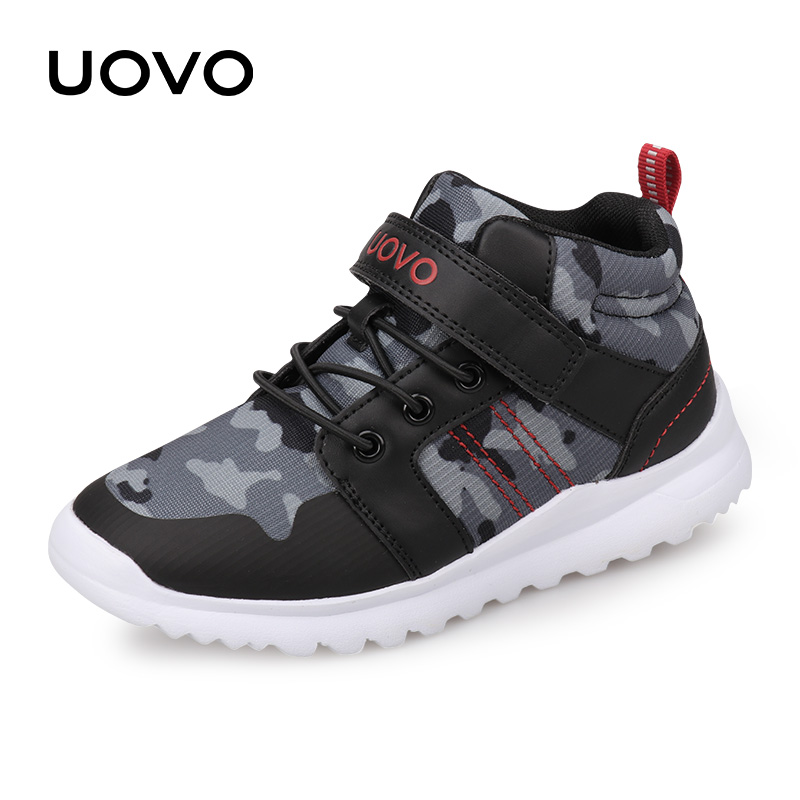 2018 UOVO New Arrival Boys Girls Shoes Fashion Kids Sport Shoes Outdoor Children Casual Sneakers for Boys Girls Size 29#-37# uovo 2016 outdoor nonslip boys shoes kids breathable baby children shoes girls shoes tenis infantil chaussure fille size 26 35