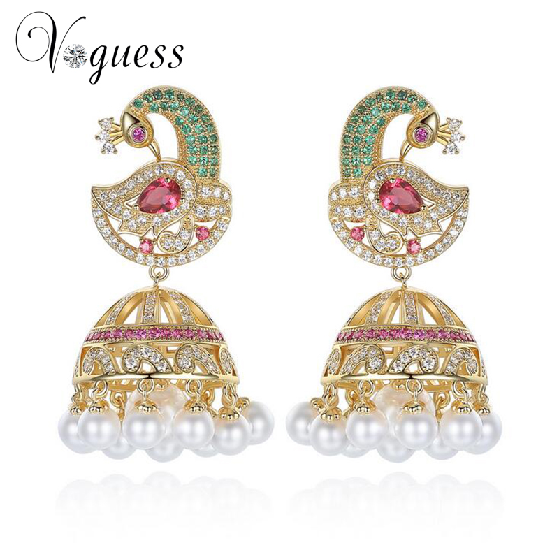 Beautiful Fashionable Brass Earrings For Girls HB 2112 Womens Earrings