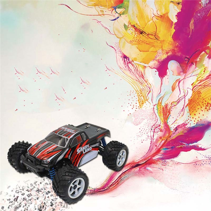 ФОТО New Off-road Vehicle 2.4Ghz 4CH 1:18 Plastic Electric Remote Control Dirt Bike High Speed Rc Car Toy Children Remot Control 9300