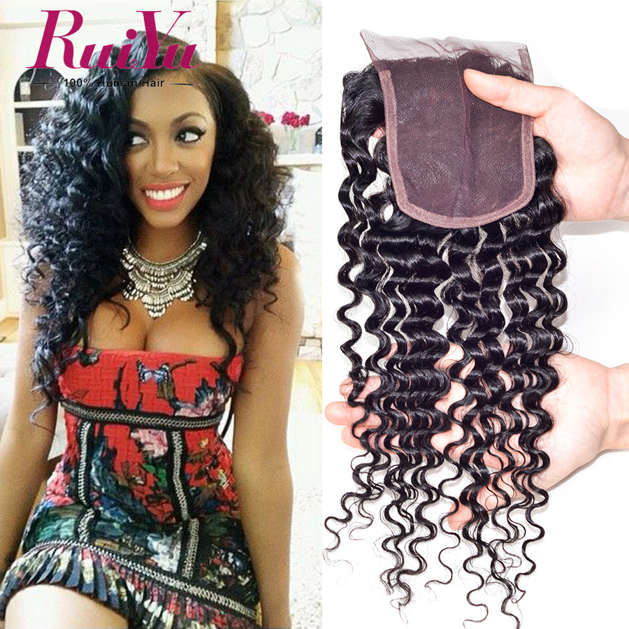Where to buy hair closures - Order 1 Piece Brazilian Deep Curly Closure Brazilian Virgin Hair Closure 8 24 Human Hair Closure