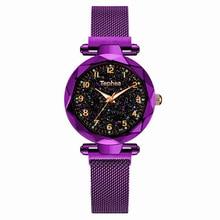 Luxury Multicolor starry sky Women Watches Fashion Luminous Waterproof WristWatch Female Rose Gold Clock Zegarek damski 2019 Hot