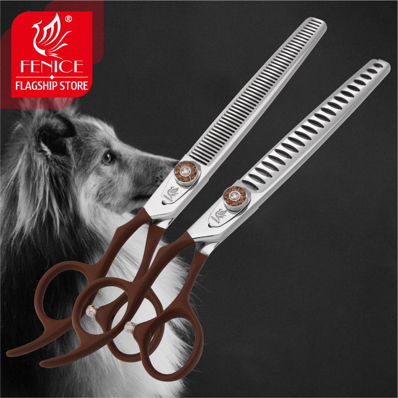 Professional JP440C pet grooming scissors Thinning Shears left handed tools stainless steel JP440C 7 inch 7