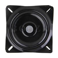 BQLZR 6 Square A3 Steel Plate Replacement Furniture Bar Stool Swivel Black