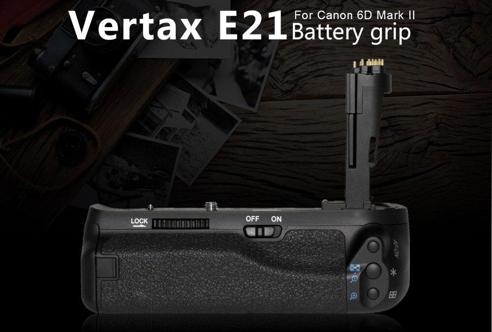 Pixel Profession poignée de batterie BG-E21 E21 poignée pour Canon 6D Mark II caméra Compatible pour des Batteries LP-E6 et LP-E6N VS E20