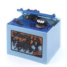 Nieuwe Godzilla Film Musical Monster Bewegende Elektronische Munt Geld Spaarpot Doos voor Kinderen Speelgoed Geschenken