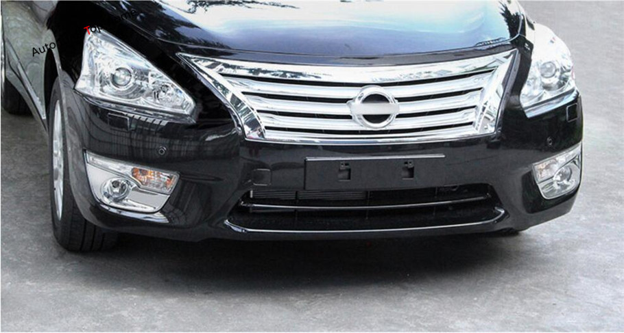 Yimaautotrims Accessories For Nissan Teana / Altima 2013 2014 2015 ABS Exterior Front Fog Light Lamp Molding Cover Trim 2 pcs