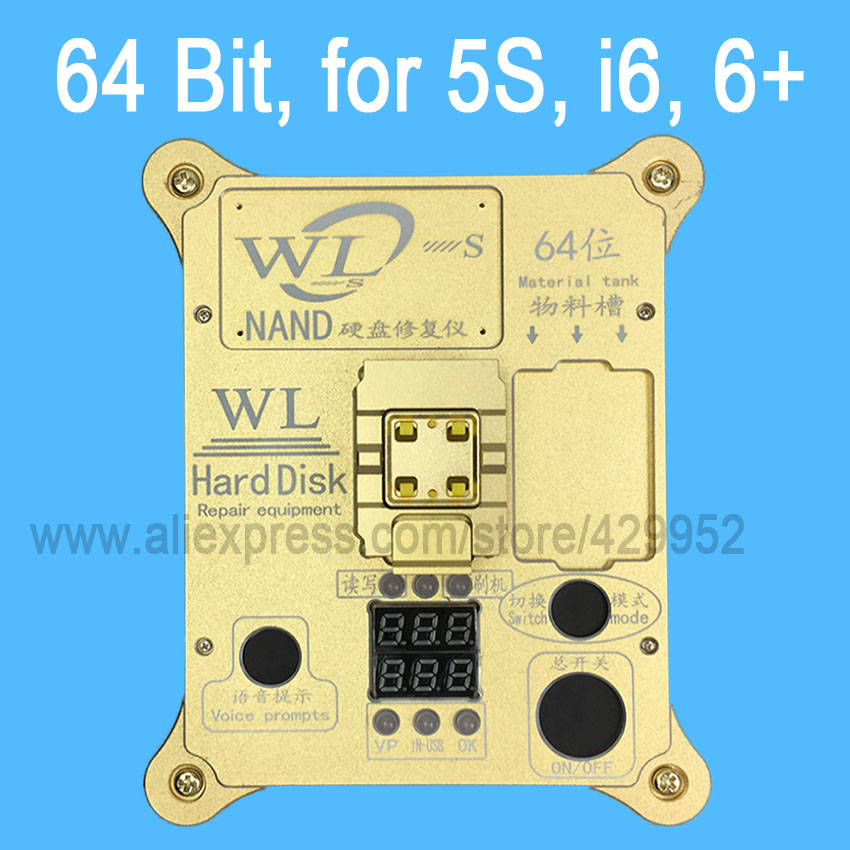 64 Bit IC Chip Programmer Machine Repair Mainboard Nand Flash Hard Disk HDD Serial Number SN for iPhone 5S 6 Plus iPad Air 2 3
