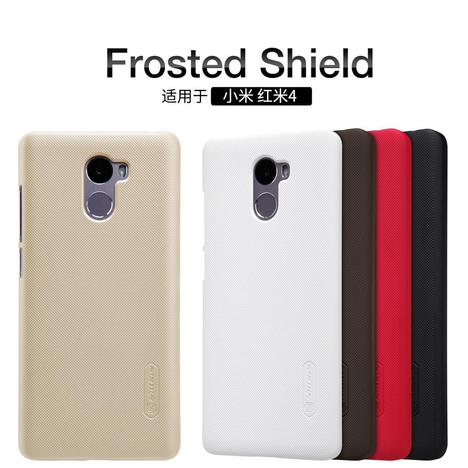 Xiaomi Redmi 4 Case 5 0 inch Nillkin Frosted Shield PC Back Cover Case For Xiaomi