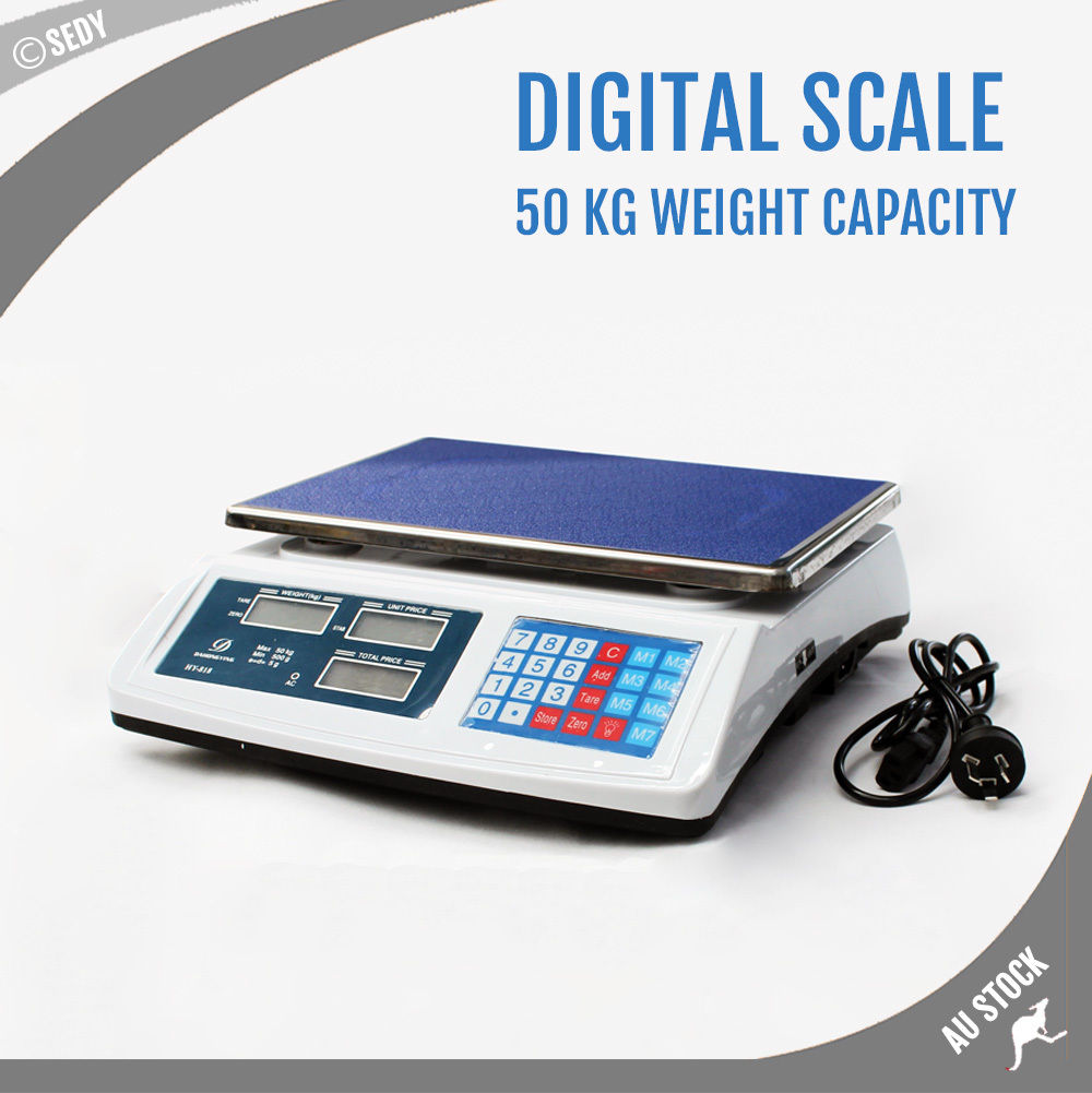 Digital Scale Kitchen Shop Market Food Fruit Post Meat Electronic Platform 50KG 5kg 5000g 1g digital scale kitchen food diet postal scale electronic weight scales balance weighting tool led electronic wh b05