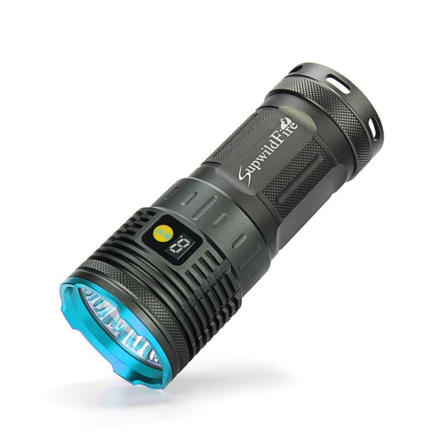 Bike light Supwildfire 55000LM 18 x XM L T6 LED Flashlight Power Mode Digital Display Hunting