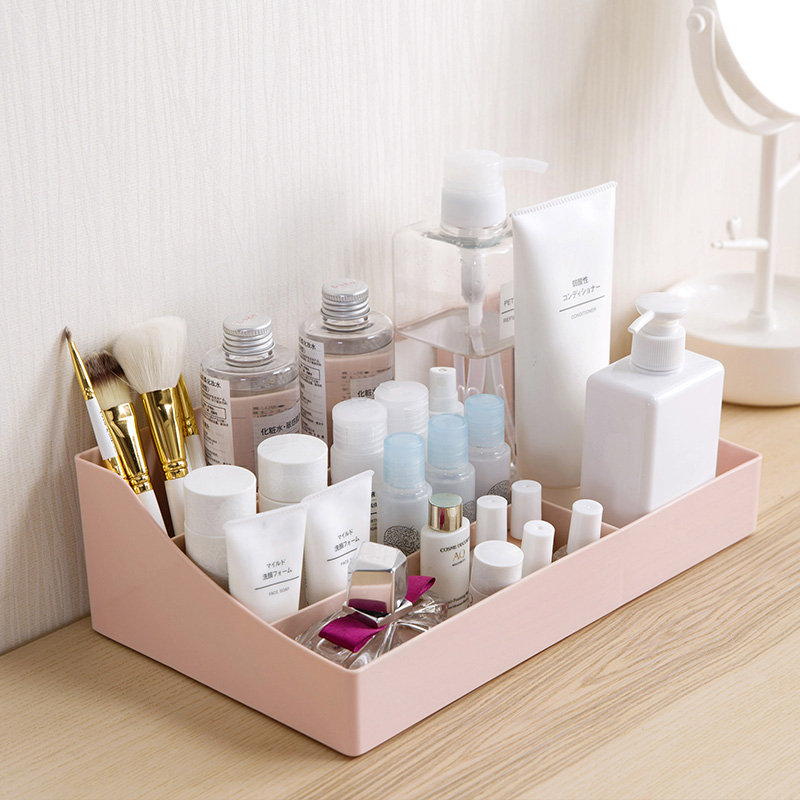 Plastic Makeup Storage Box Makeup Organizer For Cosmetic Jewelry Box Office Assemble Container Box Case Sundries Storage Box
