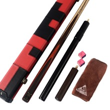 CUESOUL 1 Pieces Handmade Snooker Cue With Telescope Extension,Snooker Case,Cue Towel,Cue Chalk