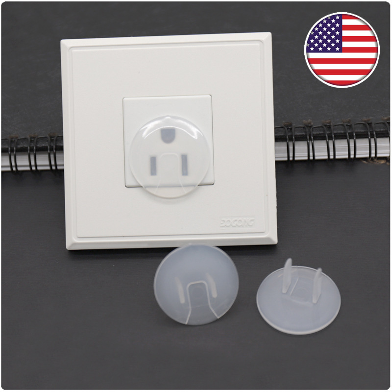 10 Pieces Of Safety Cover Power Protection Cover European Transparent Anti-electric Shock Children's Power Socket Protection Cov