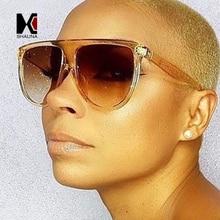 SHAUNA 10 Colors Oversize Flat Top Women Shield Sunglasses C