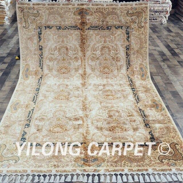 Yilong 5 6 X8 3 Turkischen Knoten Persische Seide Handgemachte