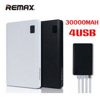 Original Remax Mobile Power Bank 30000 MAh 4 USB External Battery Charger Universal 2 USB Power