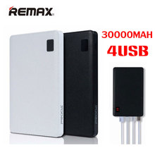Оригинал REMAX Mobile Power Bank 30000 мАч 4 USB внешний зарядное устройство универсальное 2 USB Power Bank 10000 мАч портативный зарядное устройство