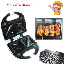 Small Breakfast Toaster Sandwich Bread Maker Machine for Household in White Color KY-18
