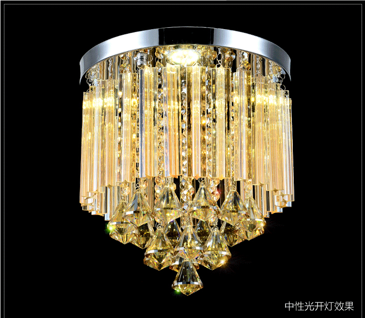 LED Ceiling Lamp Free Shipping! Round K9 Crystal Chandelier for aisle / hallway / entrance / dining room ceiling lamp Lighting anqiue led ceiling lamp beautiful chandelier jingdezhen porcelain light for dining bedroom hotel free shipping