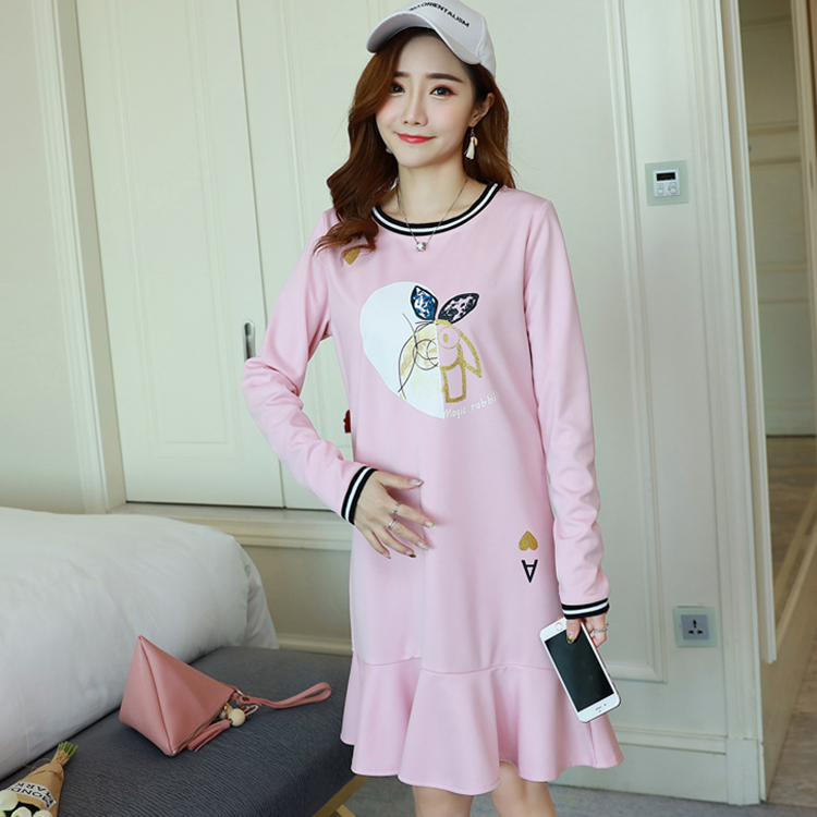 Will spring a new big yards long sleeved in the loose fishtail dress bronzing pregnant women dress the fall of 2015 to launch new products design high quality loose big yards the cowboy cotton women s nine minutes of pants